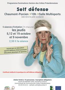 Affiche initiation au self defense
