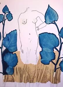 Exposition de Brigitte Coirier au Jardin Médiéval d'Uzès - La fille des champs