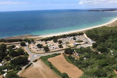 Vue-aérienne-camping-municipal-du-kerver-saint-gildas-de-rhuys-morbihan-bretagne sud Camping Municipal du Kerver