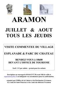 Visite guidée du centre historique d'Aramon