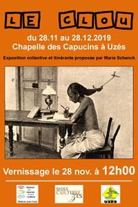 """Exposition collective """" le clou """" par Marie Schenck"""