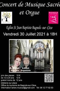 Concert de musique sacrée à l'Eglise St Jean Baptiste de Bagnols sur Cèze