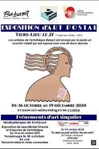 Exposition d'Art postal au Tiers-lieu Le 21