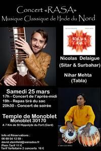 """RASA"" Concert de musique classique de l'Inde"