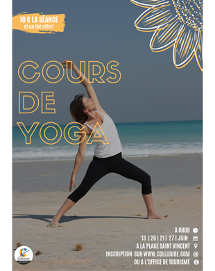 YOGA BEGINNING ON THE BEACH OF COLLIOURE