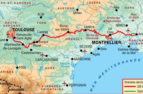 Itinéraire Saint Jacques de Compostelle voir d'ARles GR653 ©