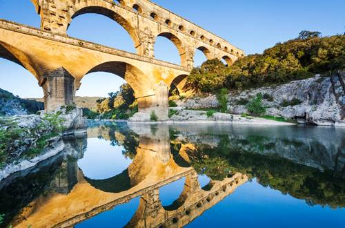 Baignade au Pont du Gard © Aurélio Rodriguez