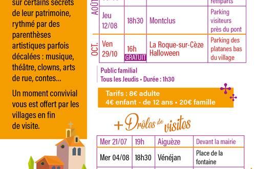 Programme des Les racont'ARTS de villages © OT PROVENCE OCCITANE