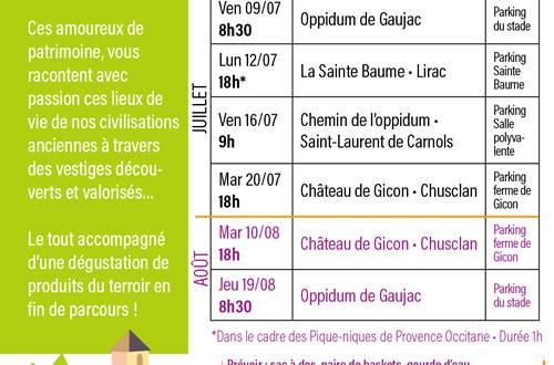 Programme rendez vous patrimoine en Provence Occitane © Provence Occitane