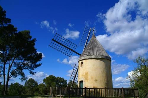 Randonnée en Vaunage autour de Nîmes- Le Moulin Cavalier à Langlade ©