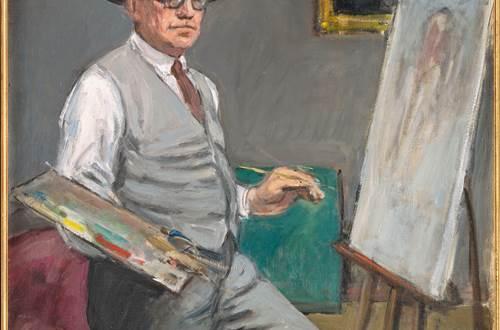 Autoportrait à la palette © Conservation des Musées du Gard