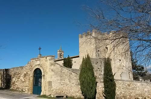 fortification côté Nord de l'Église de Saint-Bonnet-du-Gard © sbdg.passion.patrimoine