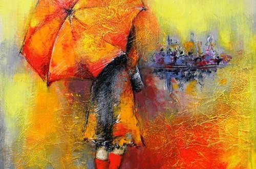 Atelier Nathalie Montel - Femme au parapluie ©