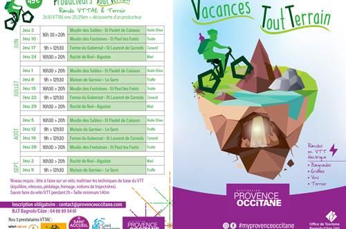 Programme des randos VTT et vins © OT PROVENCE OCCITANE
