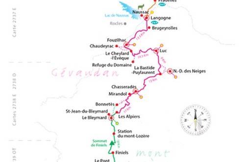 itinéraire GR70 Chemin de Stevenson ©
