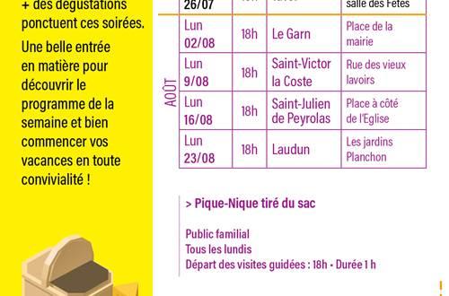 programme des pique niques en Provence Occitane © OT PROVENCE OCCITANE