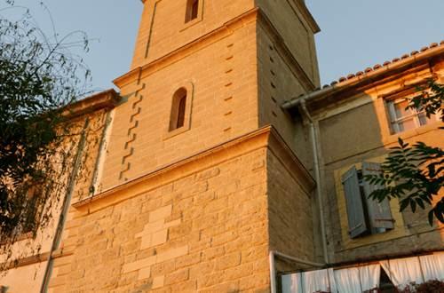 Tour de l'horloge de St-Quentin la Poterie © Crédit photos H Brahic
