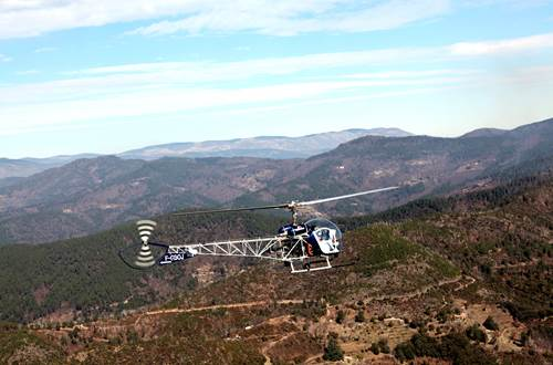 Cévennes hélicoptère St Croix de Caderle 2 ©