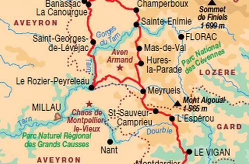 itinéraire de Saint Guilhem le Désert ©