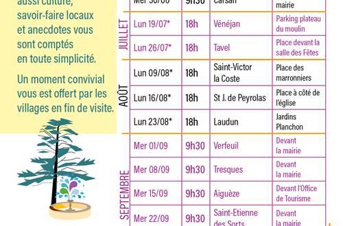 Programme des Histoires de Clochers © OT PROVENCE OCCITANE
