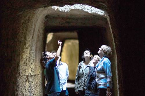 Visite des tunnels ©