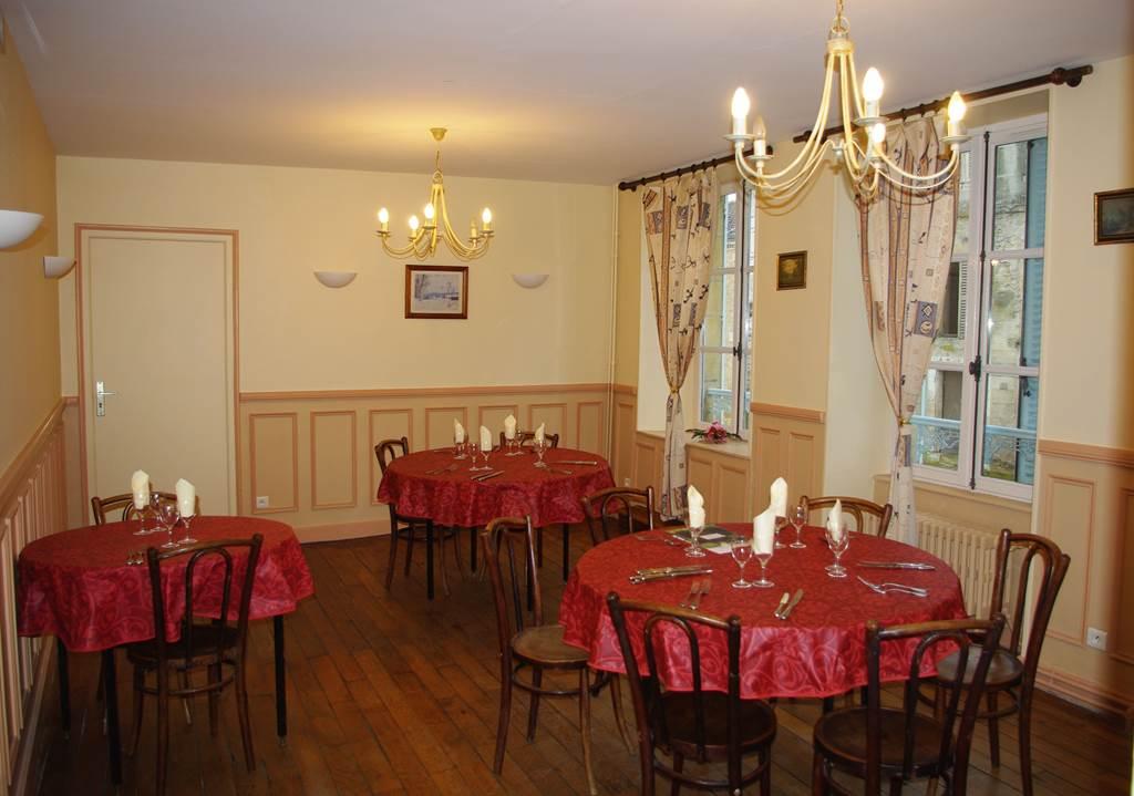 Hôtel du Saumon : le restaurant